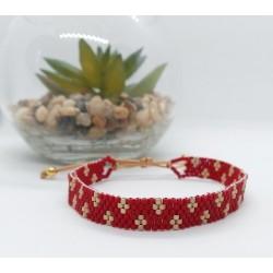 2/ Bracelet tissé 1.80 cm